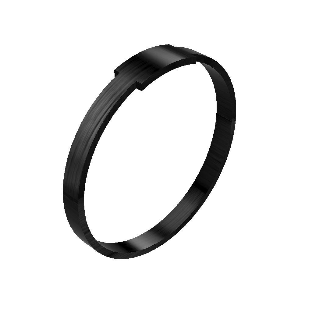 Carbonring ringblack rectangle3mm 1